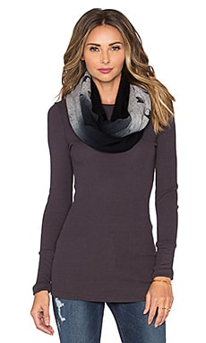 360 Sweater Eminem Infinity Scarf in Heather Grey & Black Dip