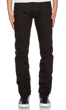 Slim Tapered Denim in Double Black Selvedge