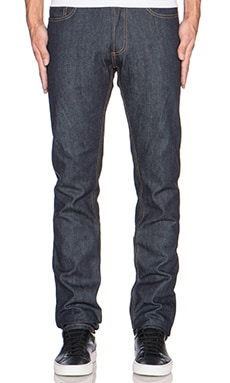 Slim Tapered Denim in Indigo Selvedge