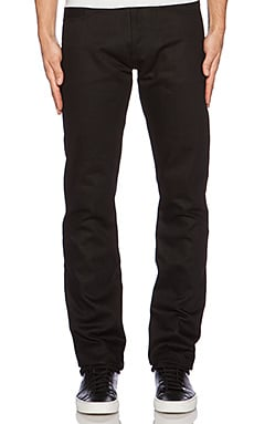 Slim Straight Denim in Double Black Selvedge