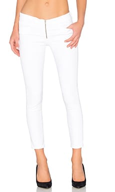 Zip Fly Crop Skinny in Aspro