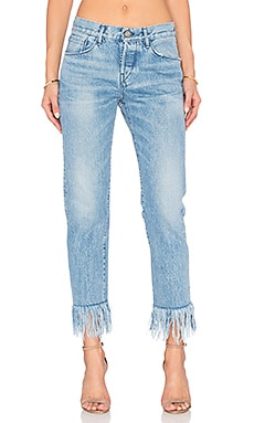 JEANS CROPPED STRAIGHT FRINGE