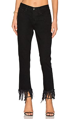 Straight Fringe Crop в цвете Мамба