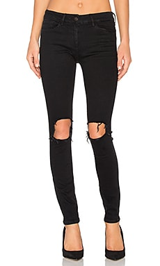 Distressed Skinny in Black Fade