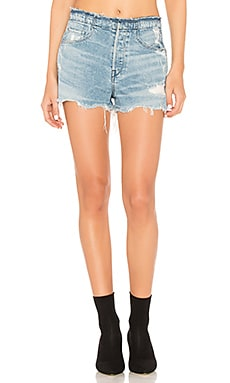SHORT EN JEAN STRIPPED SHELTER