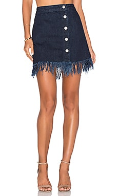 Asymmetrical Fringe Skirt in Chief