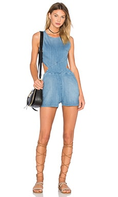 Cut Out Romper in Santorini