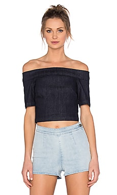 3x1 Off Shoulder Crop Top in Alpha