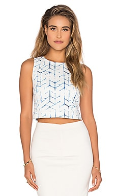 Top Cropped en Shibori Print