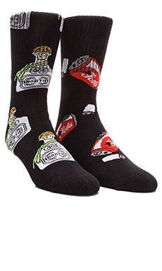40's & Shorties Can Pipe & Tequila Socks in Black & Black