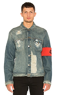 424 Distressed Denim Jacket in Indigo