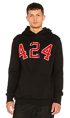 424 424 University Hoody in Black