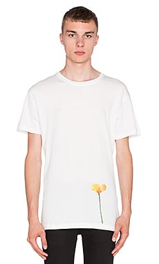 424 Single Poppy S/S Tee in White