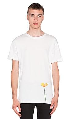 424 Single Poppy S/S Tee in White