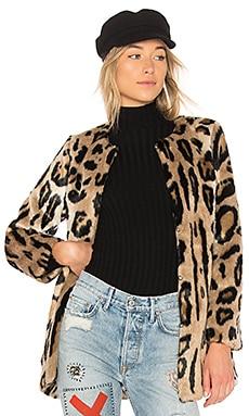 Пальто из искусственного меха leopard - 5149