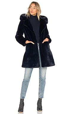 Buckled Faux Fur Coat
