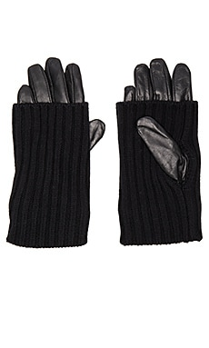 525 america Leather Convertible Glove in Black