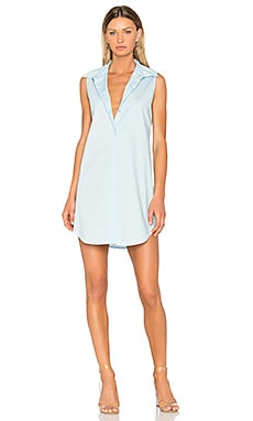 Poplin Shirt Dress en Blue Bay
