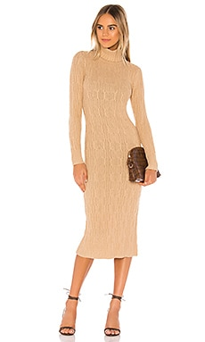 Turtleneck Cable Dress 525 $138