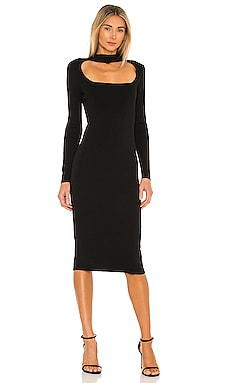 Cut Out Mock Neck Dress 525 $118