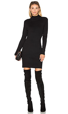 Rib Sweater Dress in Black