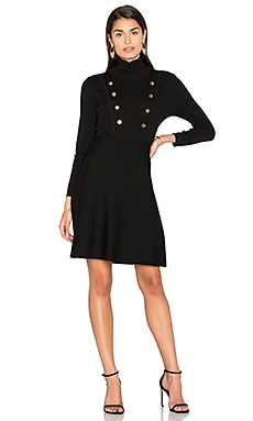 Double Breast Mini Dress en Negro