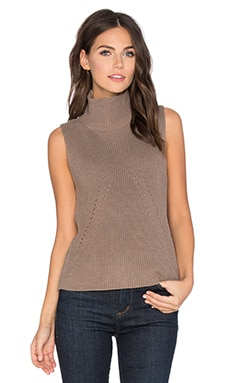 Turtleneck Sleeveless Sweater in Beechwood