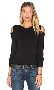 Open Shoulder Sweater in Black