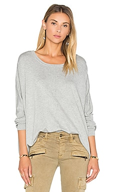 Crew Neck Box Sweater en Gris Chiné