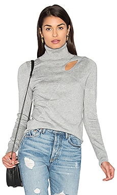 Cut Out Sweater in Medium Heather Grey
