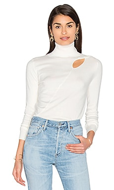Cut Out Sweater in White Cap