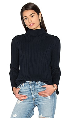 Mock Neck Sweater in Classic Navy
