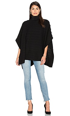 Turtleneck Poncho in Black