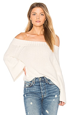 Off Shoulder Tulip Sweater