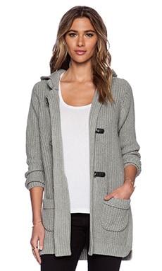 525 america Duffle Sweater Coat in Heather Grey
