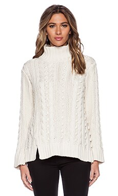 525 america Popcorn Sweater in Ivory