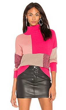 Colorblock Turtleneck 525 america $78