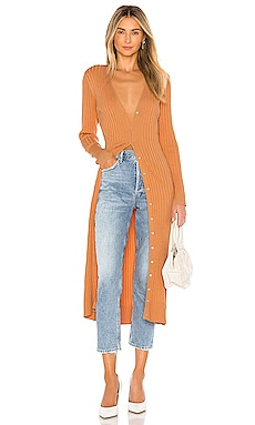 Wide Rib Long Cardigan 525 america $138