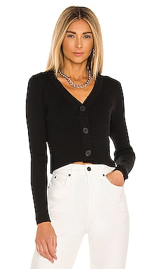 Rib Cropped V Neck Cardigan 525 $88