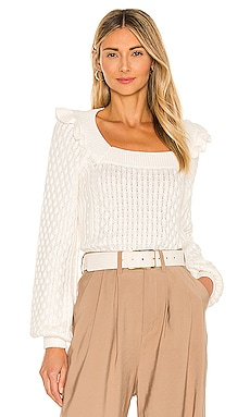 Ruffle Cable Pullover Sweater 525 $128