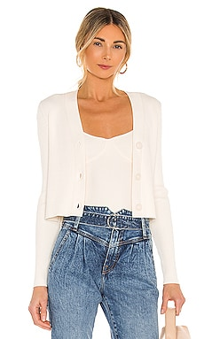 Rib Cropped V Neck Cardigan 525 $88 NEW