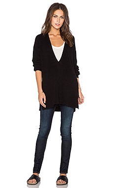 525 america Shaker Deep V Sweater in Black