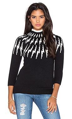 525 america Thunderbolt Yoke Sweater in Black Combo