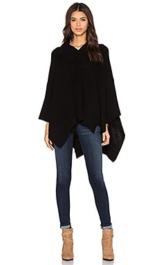 525 america Hi V Neck Poncho in Black