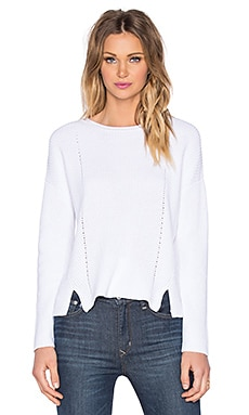 525 america Crew Neck Crop Sweater in White