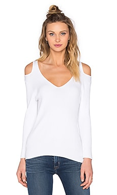 Open Shoulder Sweater in Bleach White