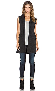 525 america Double Knit Sleeveless Blazer in Dark Grey