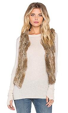 525 america Rabbit Fur Vest in Natural