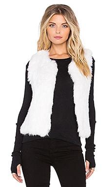 525 america Rabbit Fur Vest in White Cap