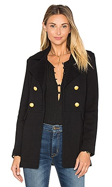 Double Breast Peacoat em Preto